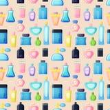 Perfume bottle vector set. Set of vector perfume fashion container smell spray. Vector illustration perfume shop symbols elegant merchandise gift. Beauty liquid Royalty Free Stock Images