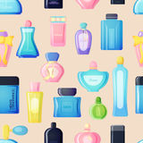 Perfume bottle vector set. Set of vector perfume fashion container smell spray. Vector illustration perfume shop symbols elegant merchandise gift. Beauty liquid Stock Photography