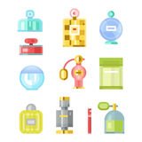 Perfume bottle vector template Stock Images