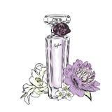 Perfume bottle vector. Trendy print. Stock Photo