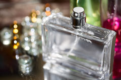 Perfume bottles. With selected focus Royalty Free Stock Photography