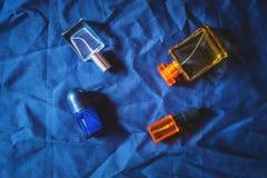Perfume and perfume bottles stock image