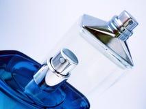 Perfume bottles. Cologne/perfume bottles against white background Royalty Free Stock Image
