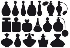 Perfume bottles, stock illustration