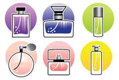 Perfume Bottles. Many kinds of perfume bottles vector illustration