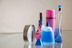 Perfume Bottles. A perfume bottles on a desk Stock Photo