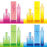 Perfume bottles. Vector illustration of perfume bottles set stock illustration