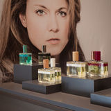 Perfume bottles atEsxence 2014 in Milan, Italy Stock Photography