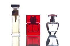 Perfume Bottles Back Lit Royalty Free Stock Photos