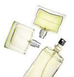 Perfume bottles floating Royalty Free Stock Photo