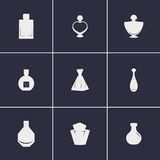 Perfume Bottles icons Stock Photo