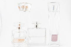 Perfume Bottles over white Stock Images