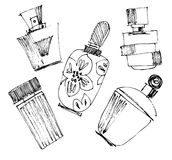 Perfume bottles set. Stock Images