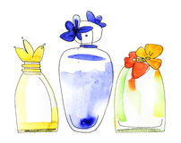 Perfume bottles set. Stock Photos