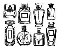 Perfume bottles set. Vector. Stock Photos