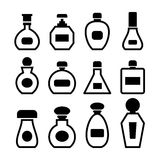 Perfume bottles vector Royalty Free Stock Photography