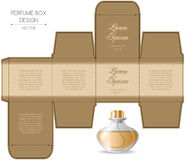 Perfume box design. With die cut. Vector illustration Stock Photo