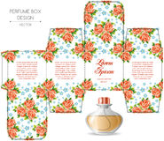Perfume box design. With die cut. Vector illustration Royalty Free Stock Image