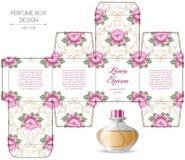 Perfume box design Royalty Free Stock Photos