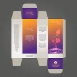 Perfume box design. In editable vector format Stock Photos