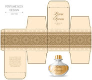 Perfume box design Royalty Free Stock Images