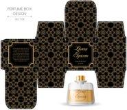 Perfume box design Stock Images