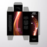 Perfume box design. Vector format Royalty Free Stock Image