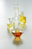 Perfume choices. Close up of perfume bottles Stock Photography