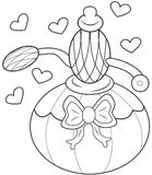 Perfume coloring page Royalty Free Stock Photo