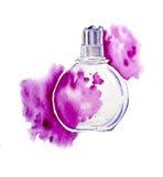 Perfume con el spash Foto de archivo libre de regalías