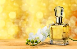 Perfume. Cosmetics Bottle  Gift White Luxury Stock Images