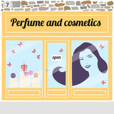 Perfume and cosmetics shop. Royalty Free Stock Photography