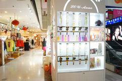 Perfume counters in shopping malls, China Stock Photography