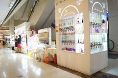 Perfume counters in shopping malls, China Stock Photo