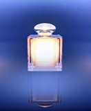 Perfume in a crystal beautiful bottle. Royalty Free Stock Photography