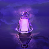 Perfume in a crystal bottle. Stock Photography