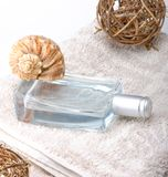 Perfume with decorations Stock Photo