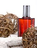 Perfume with decorations Stock Images