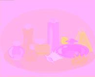 Perfume del vector fijado con las conchas marinas Imagen de archivo libre de regalías