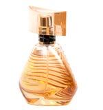 Perfume do ` s das mulheres na garrafa bonita isolada no branco Fotos de Stock