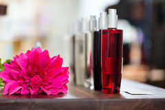 Perfume in drugstore or shop Royalty Free Stock Image