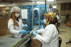 Perfume Factory in Turkey Royalty Free Stock Photography