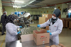 Perfume Factory in Turkey Stock Photography