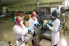 Perfume Factory in Turkey Stock Photos