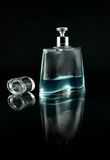 Perfume flask with cologne Royalty Free Stock Images