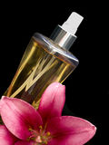 Perfume with flower Stock Photo