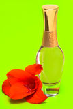 Perfume with flower Royalty Free Stock Images