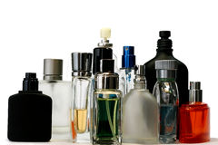 Perfume and fragrance bottles Royalty Free Stock Photo
