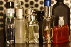 Perfume and fragrances bottles. Assorted Perfume and fragrances bottles remove visible trademarks Stock Photography