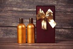 Perfume and gift box Stock Photo